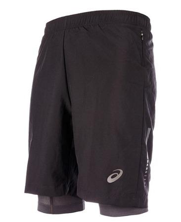 Spodenki męskie Asics 2N1 Short 1340094 Kolor: Performance Black, Rozmiar: XL